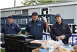 Firefighters Grilling