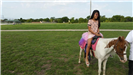 Girl Sitting on a Pony
