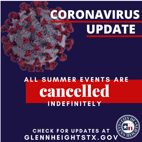 All Summer Events Cancelled- Coronavirus
