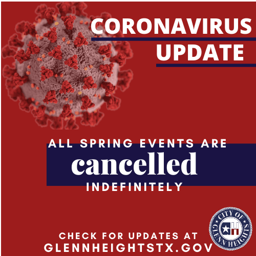 Spring Events Cancelled