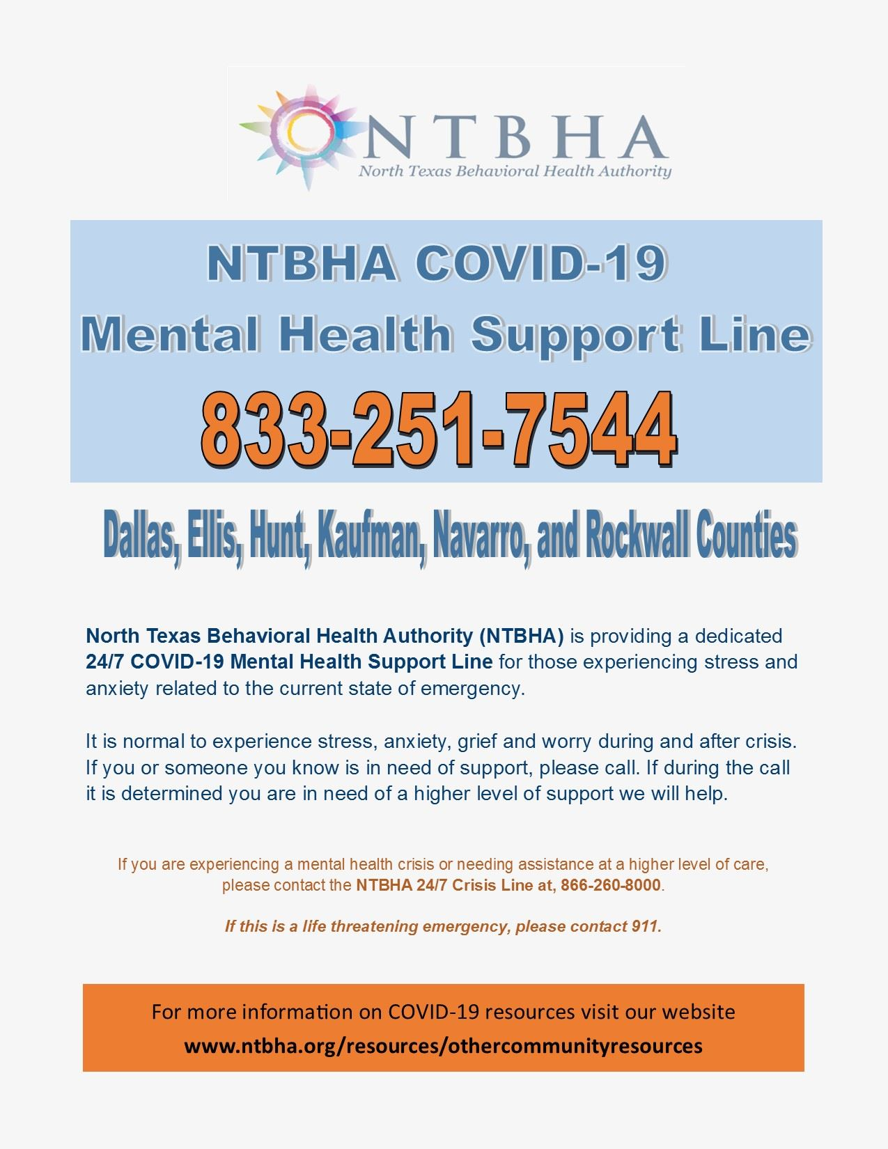 COVID-19 Flyer for Mental Health Support Line_Mar2020