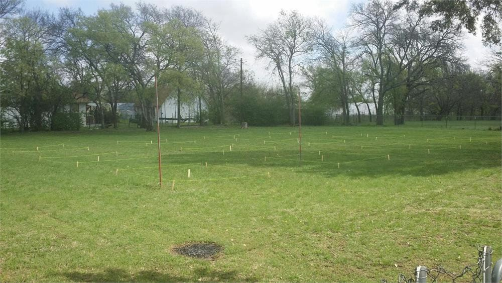 Community Garden Area with Plots Laid Out