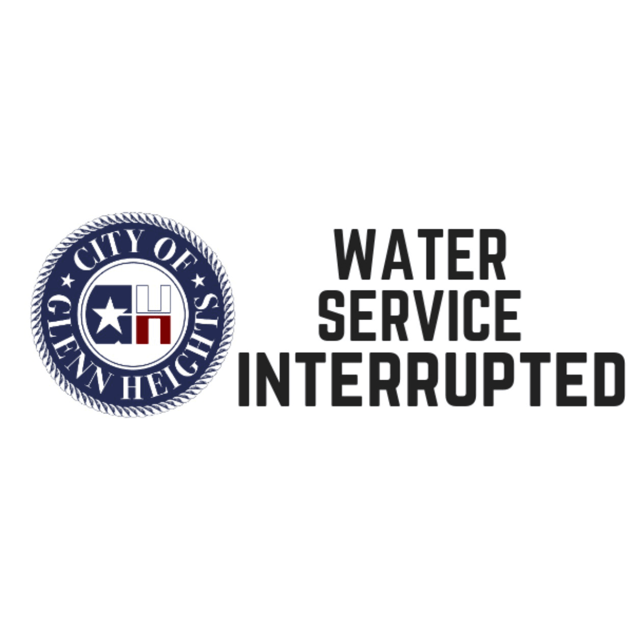 Water Service Interrupted Graphic