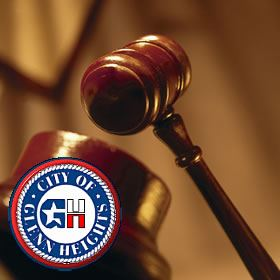 Gavel and City of Glenn Heights Logo
